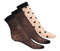 Nylon-Socken schwarz