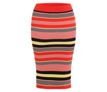 Bleistiftrock im Streifen-Look gelb / rot / schwarz