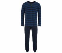 Pyjama lang nachtblau / royalblau