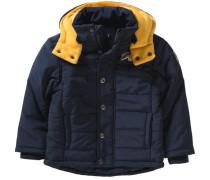 Winterjacke für Jungen blau / hellorange