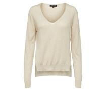 V-Ausschnitt Pullover beige