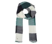 Schal mit Karomuster grün / weiß