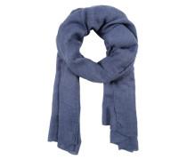 Schal in Web-Optik blau