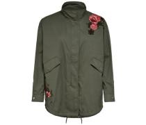 Detailreiche Jacke dunkelgrün