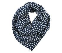 Schal mit Punktemuster blau