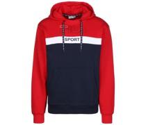 Sweatshirt 'Lenzo' rot / blau / weiß