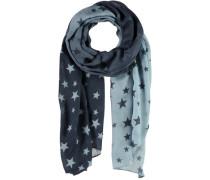 Sternen-Schal blau