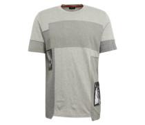 T-Shirt in Struktur-Mix grau