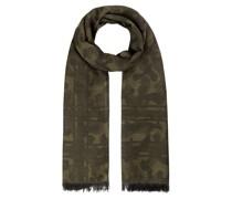 Tarnmuster-Schal aus Wolle und Baumwolle