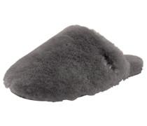 Hausschuh 'Fluff Clog' grau