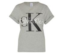 Shirt mit Label-Print grau