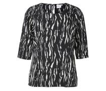 3/4-ärmelige Bluse schwarz / weiß