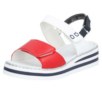 Sandale rot / weiß