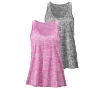 Tanktops grau / pink