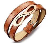 Armband zum Wickeln »Unendlichkeit« braun