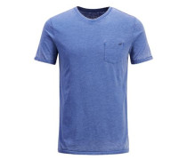 Ausgewaschenes T-Shirt blau
