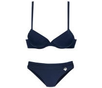 Push-up-Bikini s.Oliver blau