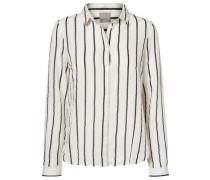 Langärmiges Hemd schwarz / weiß
