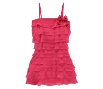 Festliches Kleid mit Volants für Mädchen cranberry