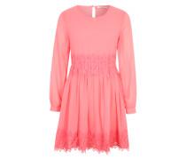 Chiffon-Kleid mit Unterkleid rosa