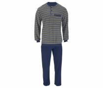 Pyjama Frottee blau / gelb