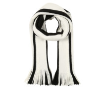 Schal mit Streifenmuster schwarz / weiß