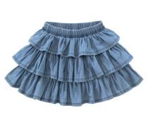 Volantrock für Mädchen blau