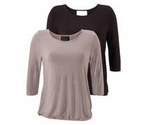 Shirts taupe / schwarz