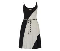 Kleid 'devanne' grau / schwarz