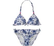 Kinder Bikini UV-Schutz 50+ dunkelblau / violettblau / weiß