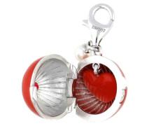 Charm 'Burning Heart Ball' silber