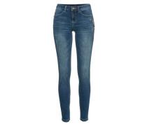 Skinny Jeans mit Strassverzierung blue denim