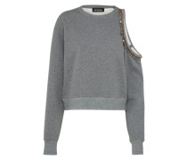 Sweatshirt 'Cold-Shoulder' grau