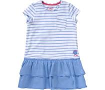 Kinder Jerseykleid blau / hellblau / rot / weiß