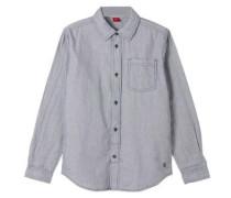 Hemd mit feinem Karomuster blau