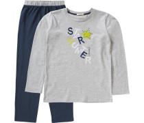 Schlafanzug für Jungen navy / grau