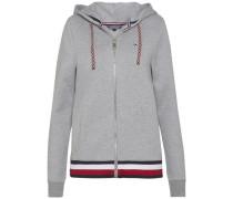 Sweatshirt 'trisha Logo Hoodie LS' hellgrau