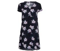 Detailreiches Kleid mit kurzen Ärmeln navy / türkis / rosé