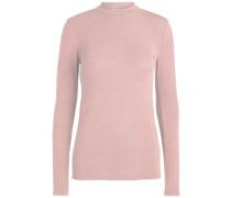 Rollkragen Pullover mit langen Ärmeln pink