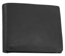 Brooklyn Geldbörse Leder 11 cm schwarz