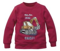 """Sweatshirt """"überflieger"""" mischfarben / himbeer"""