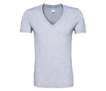 T-Shirt im 2er-Pack mit V-Ausschnitt 'Base HTR V T S/s' grau