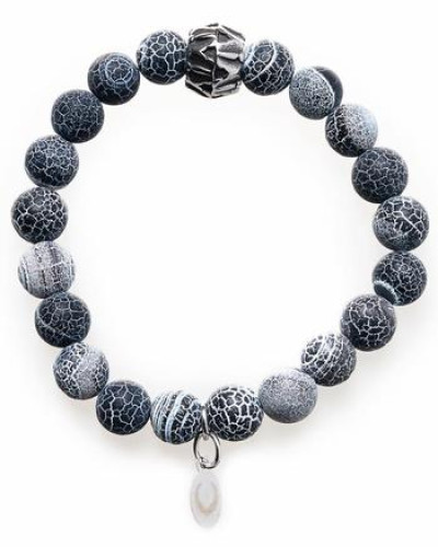 Armband 'Blue rock 1245' grau
