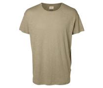 T-Shirt O-Ausschnitt beige