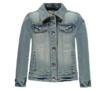 Jeansjacke mit Stickerei blue denim
