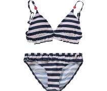 Kinder Bikini blau / weiß