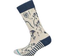 Socken beige / navy