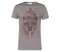T-shirt 'Sprühdose' grau