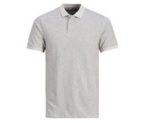 Slim Fit Poloshirt grau