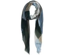 Langer gemusterter Schal mischfarben